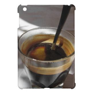 Espresso coffee with rum, sugar and lemon rind cover for the iPad mini