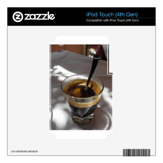 Espresso coffee with rum, sugar and lemon rind decal for iPod touch 4G