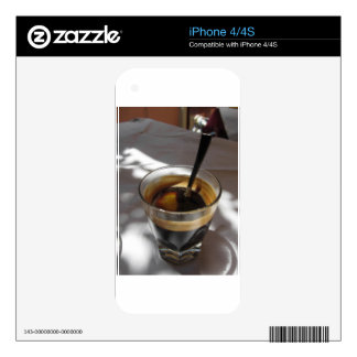 Espresso coffee with rum, sugar and lemon rind decal for the iPhone 4S