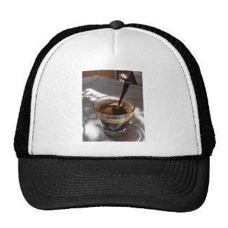 Espresso coffee with rum, sugar and lemon rind trucker hat