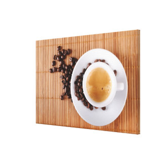 Espresso cup on a mat canvas print
