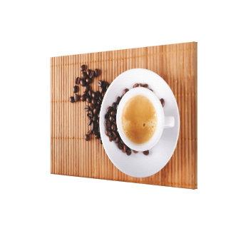 Espresso cup on a mat canvas print