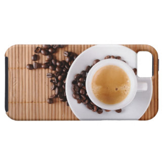 Espresso cup on a mat iPhone 5 cases