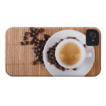 Espresso cup on a mat iPhone 4 case