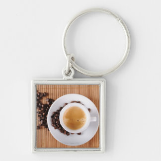 Espresso cup on a mat keychain