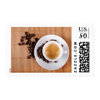 Espresso cup on a mat postage