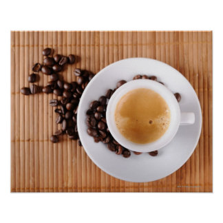 Espresso cup on a mat poster