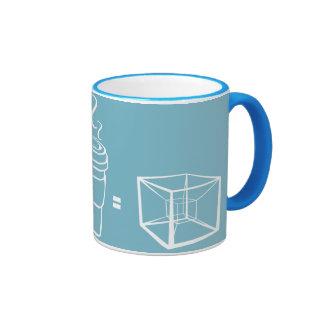 Espresso Hypercube Ringer Mug