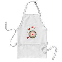 espresso love mod cute adult apron