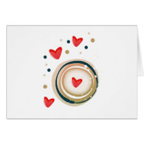 espresso love mod cute card
