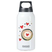 espresso love mod cute insulated water bottle