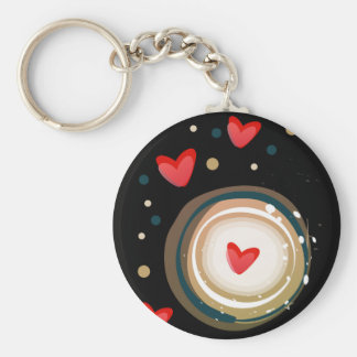 espresso love mod cute keychain