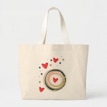 espresso love mod cute large tote bag