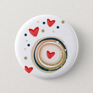 espresso love mod cute pinback button