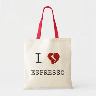 Espresso lovers I Love Espresso Budget Tote Bag
