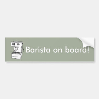 Espresso machine bumper sticker