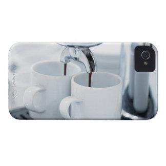 Espresso machine making coffee iPhone 4 Case-Mate case