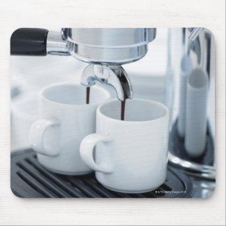 Espresso machine making coffee mouse pad