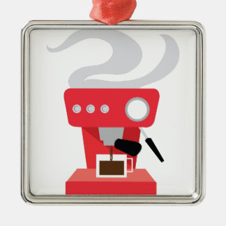 Espresso Machine Metal Ornament