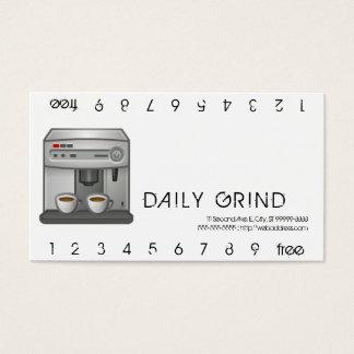 Espresso Machine Punchcard Business Card