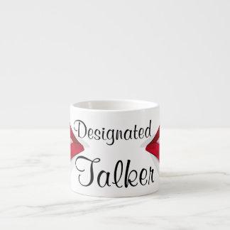 """Espresso Mug - """"Designated Talker"""" 6 Oz Ceramic Espresso Cup"""