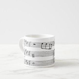 Espresso Mug - Hand written music