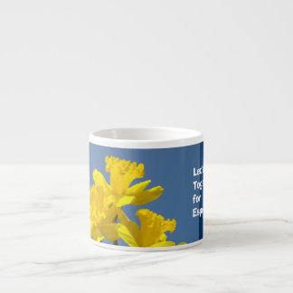 Espresso mug Let's Get Together for Coffee Mugs 6 Oz Ceramic Espresso Cup