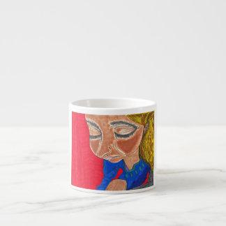 Espresso mug Peace Girl Art by AromanArt 6 Oz Ceramic Espresso Cup