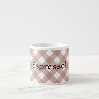 Espresso Mug - Soft Beige Lattice for Zinnia