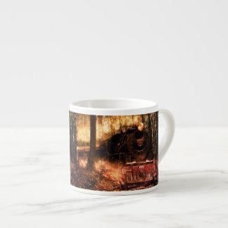 Espresso Mug Train in the forest