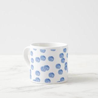Espresso mug with blue polka dots