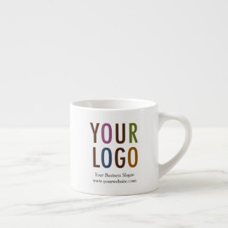 Espresso Mug with Company Logo 6 oz No Minimum