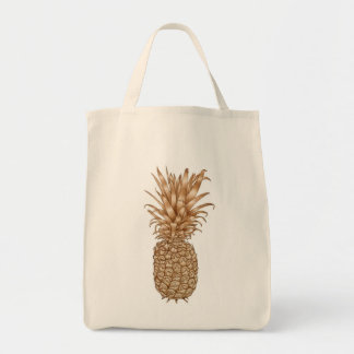 Espresso Pineapple Grocery Tote Bag