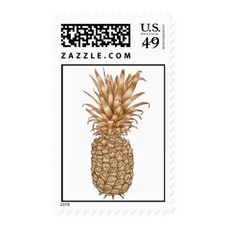 Espresso Pineapple Postage Stamp