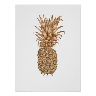 Coffee Themed Espresso Pineapple Poster