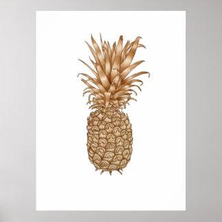 Espresso Pineapple Print