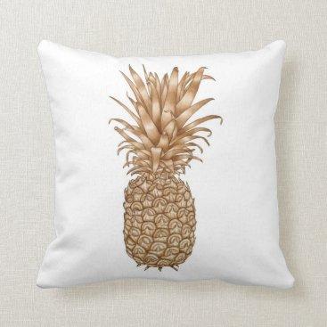 Coffee Themed Espresso Pineapple Throw Pillow