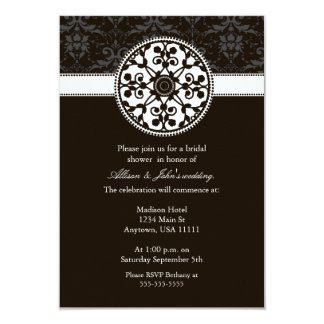 Espresso Rosette Bridal Shower Invitation