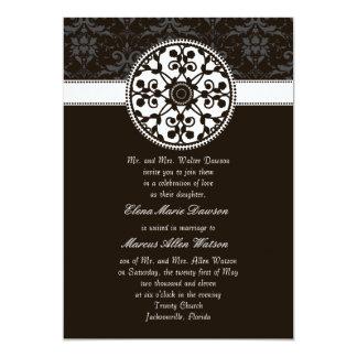 Espresso Rosette Wedding Invitation