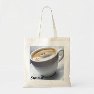 Espresso-themed tote budget tote bag