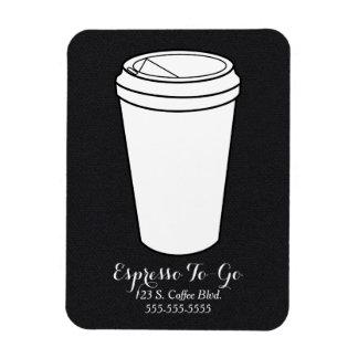 Espresso To-Go Business black faux flannel Magnet