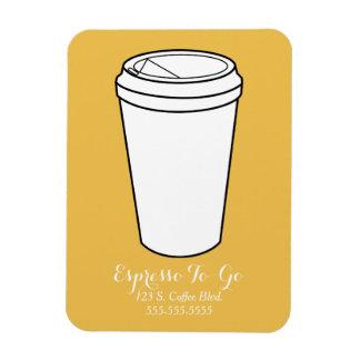 Espresso To-Go Business mustard background Rectangular Photo Magnet