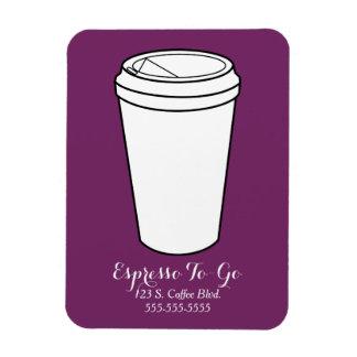Espresso To-Go Business plum Rectangular Photo Magnet