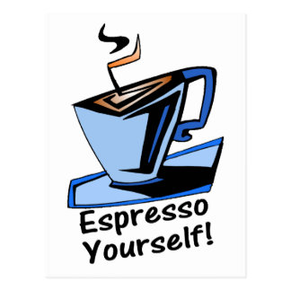 espresso-yourself post card