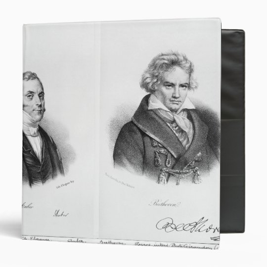 Esprit Auber  and Ludwig van Beethoven 3 Ring Binder