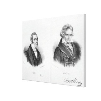 Esprit Auber  and Ludwig van Beethoven Canvas Print