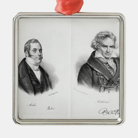 Esprit Auber  and Ludwig van Beethoven Metal Ornament