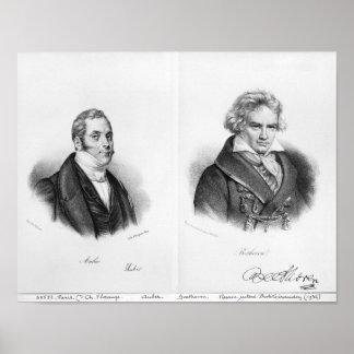Esprit Auber  and Ludwig van Beethoven Poster