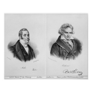 Esprit Auber y Ludwig van Beethoven Posters