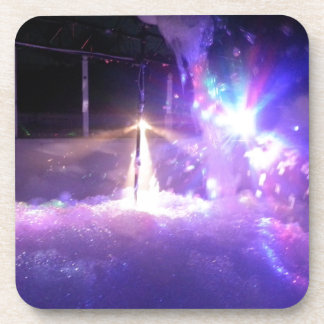 Espuma azul de las luces laser posavasos de bebida